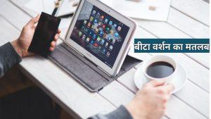 Beta Version Meaning in Hindi
