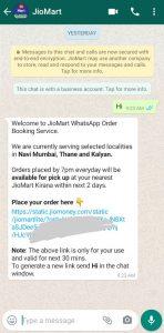 Jiomart whatsapp number