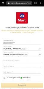 Jiomart kirana order